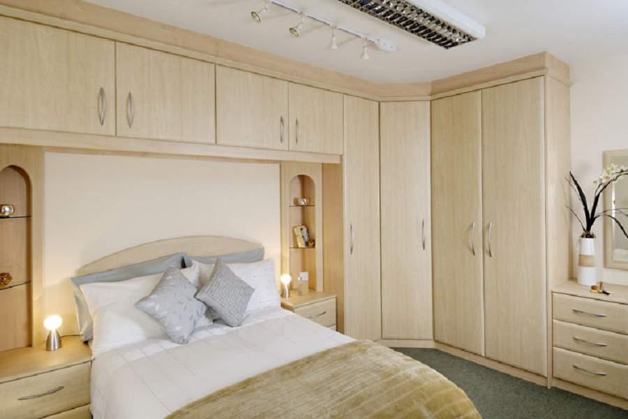 Giường kết hợp tủ quần áo chất liệu gỗ công nghiệp