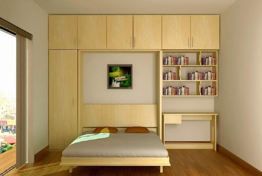 giường kết hợp tủ quần áo két hợp nhà hẹp