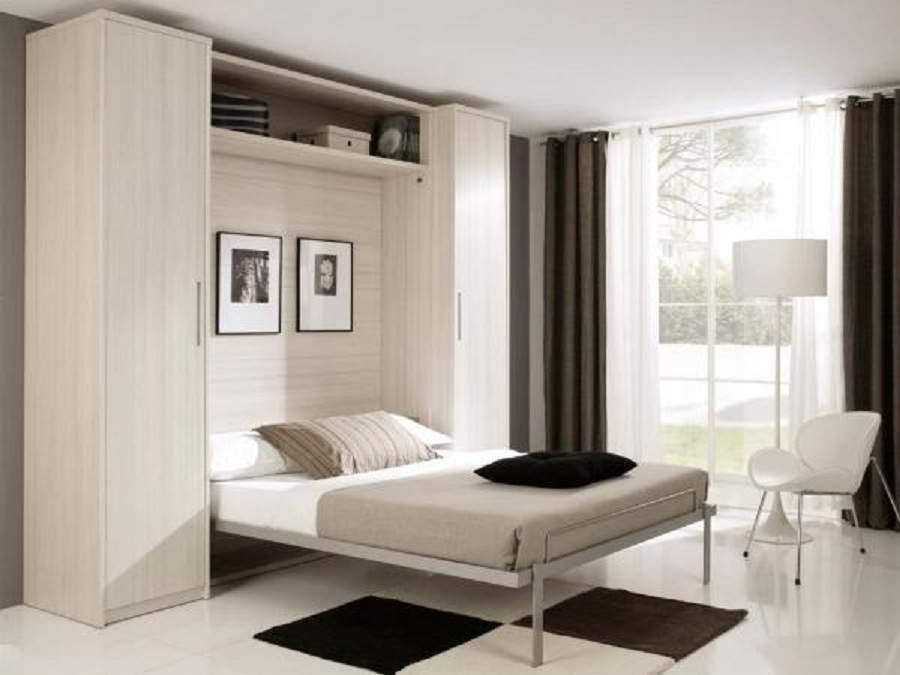 giường kết hợp tủ quần áo cho phòng ngủ thoáng đãng