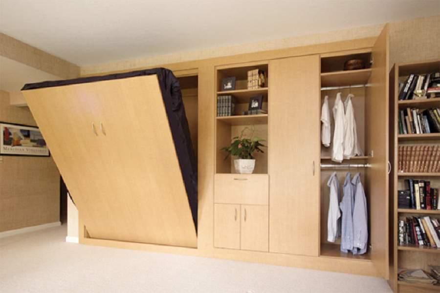 giường kết hợp tủ quần áo đa năng
