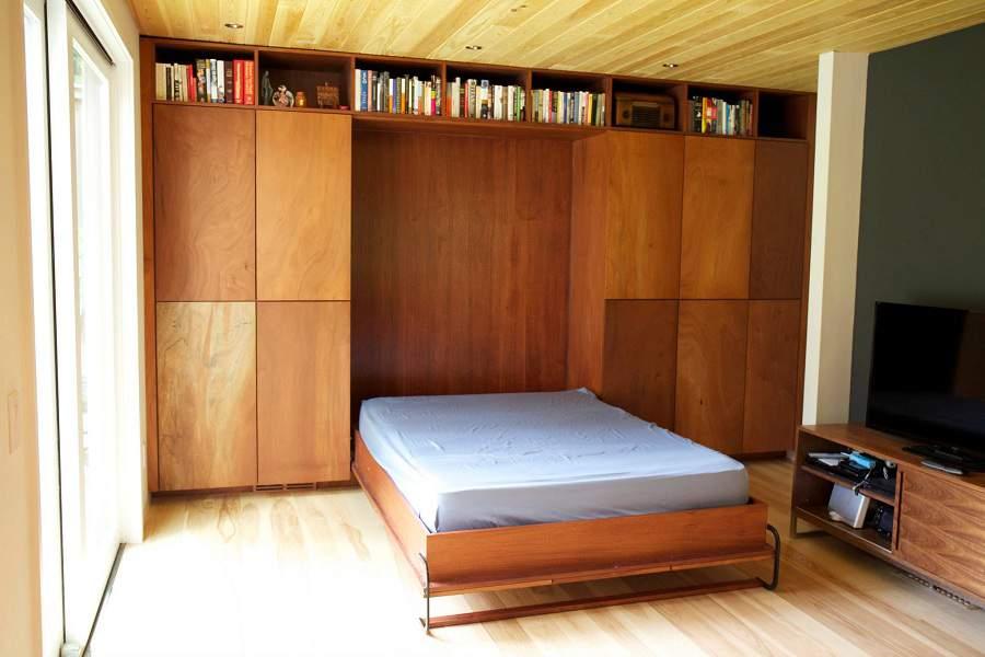 giường kết hợp tủ quần hiện đại