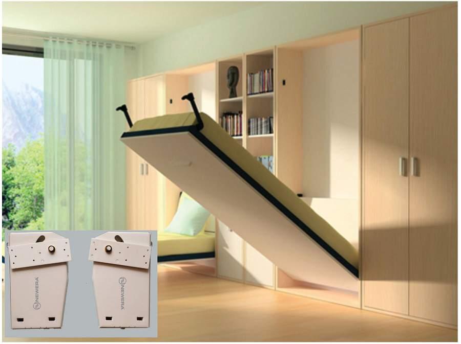 giường kết hợp tủ quần áo sang trọng