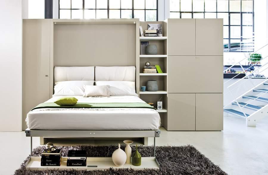 giường kết hợp tủ quần áo tiện nghi