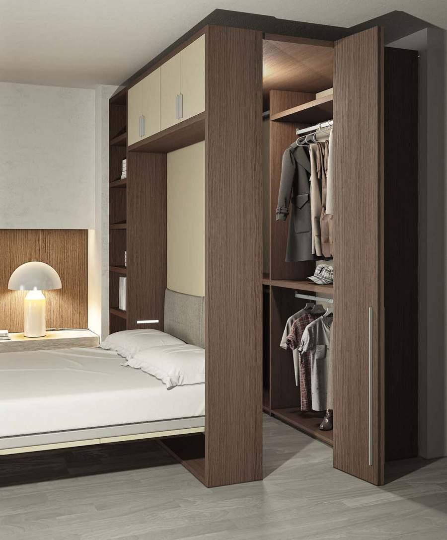 Lựa chọn giường kết hợp tủ quần áo cho phòng ngủ