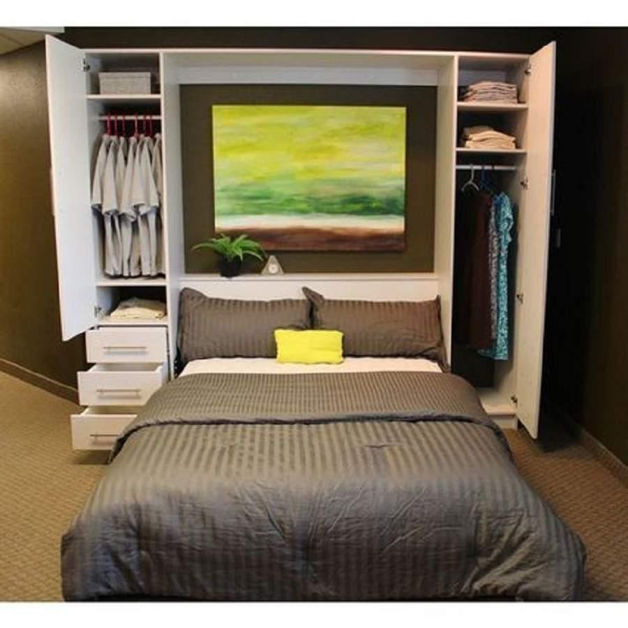 Giường kết hợp tủ quần áo tích hợp nhiều tiện ích