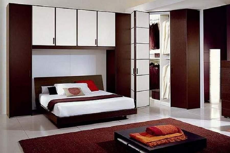 Giường kết hợp tủ quần áo gỗ tự nhiên