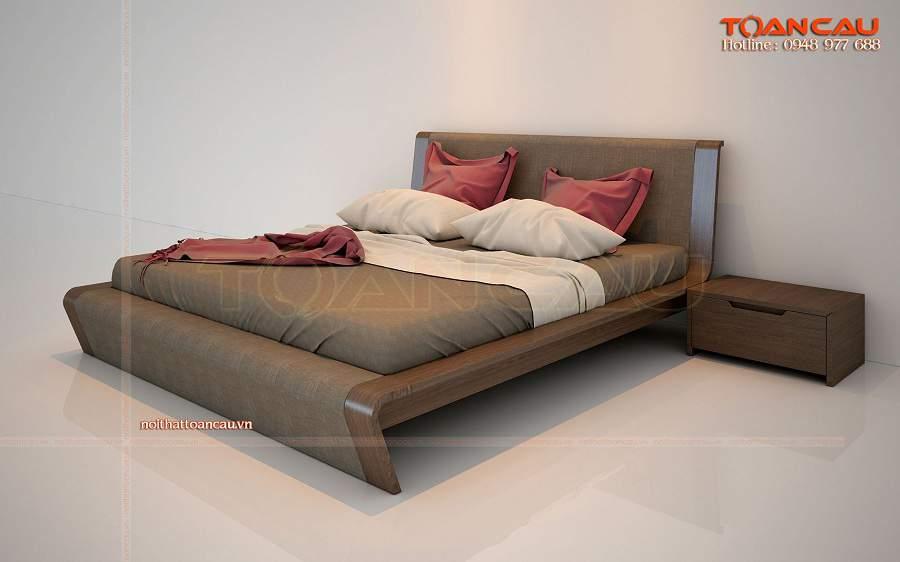Mẫu giường ngủ thấp gỗ tự nhiên cao cấp