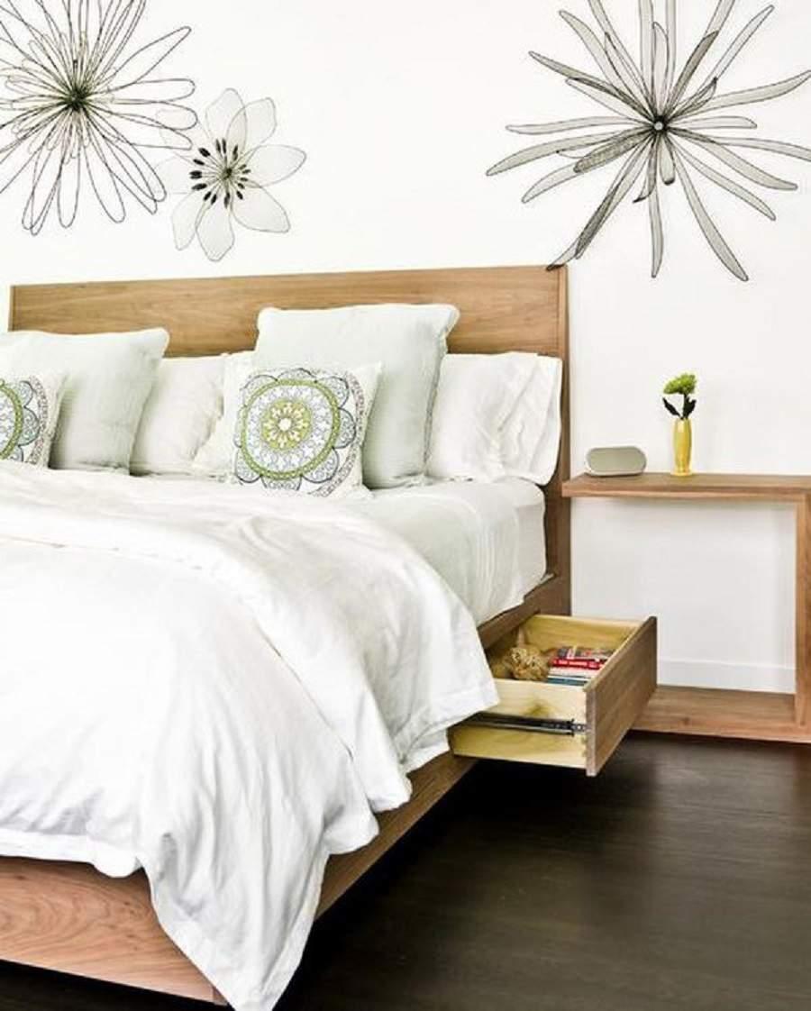 Giường ngủ có hộc kéo cho hông gian nhà thoáng đãng