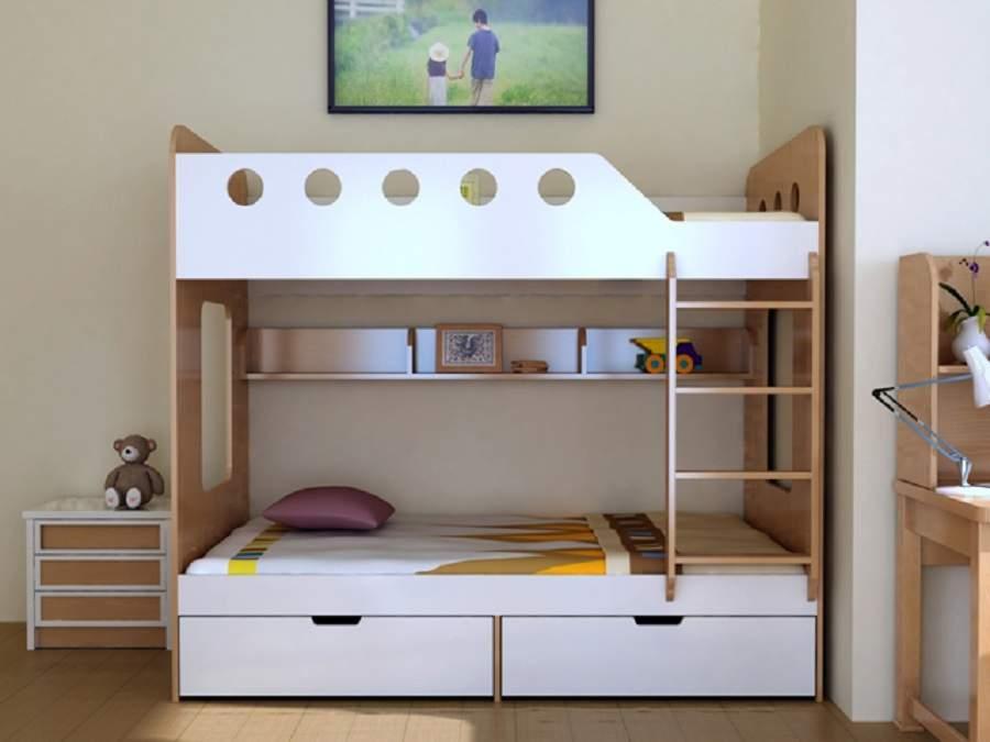 Giường gỗ có ngăn kéo tiện dụng