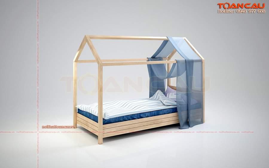 Giường ngủ đơn cho bé trai giá rẻ cho phòng chội