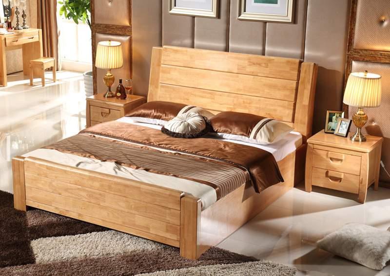Mẫu giường ngủ gỗ hộp – TC14152
