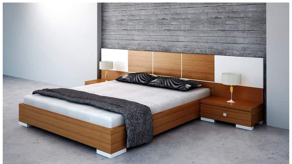 Mẫu giường ngủ gỗ hộp – TC14158