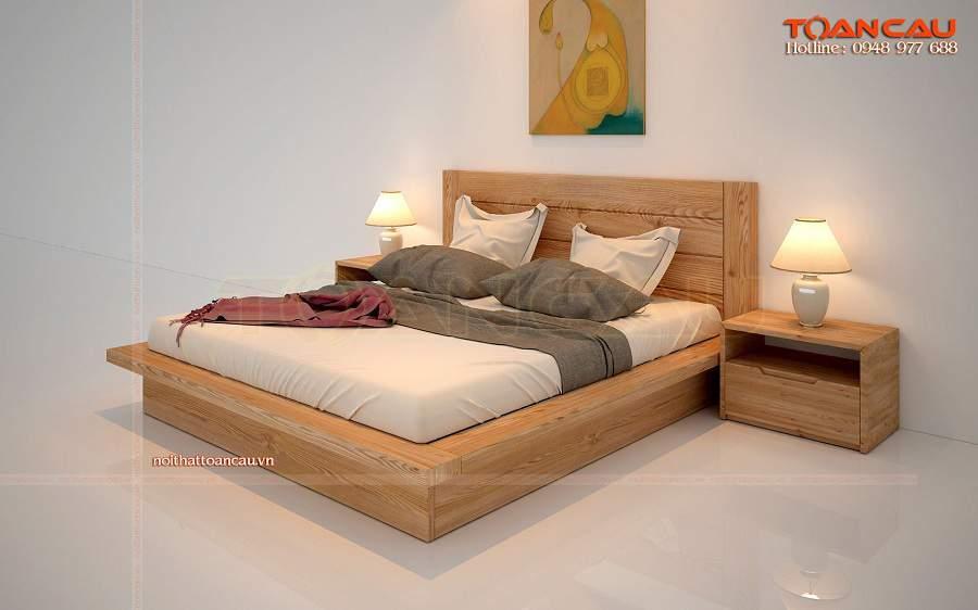 Giường ngủ gỗ sồi tự nhiên giá rẻ tại tphcm sang trọng