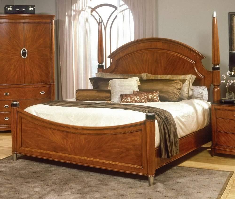 Mẫu giường ngủ gỗ hương – TC16132