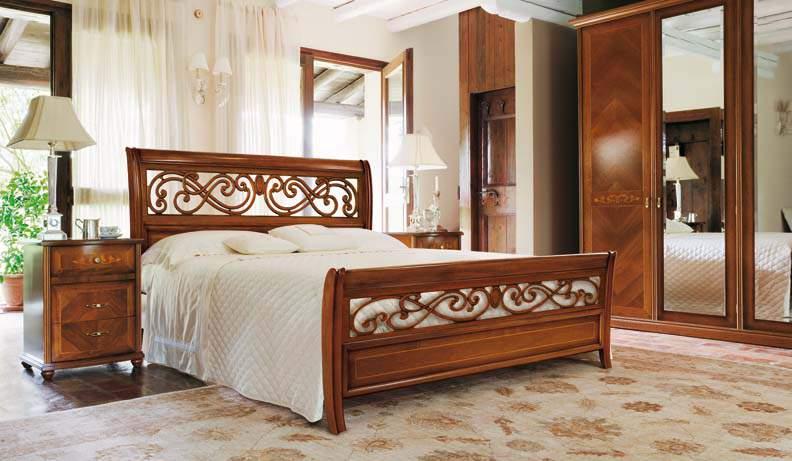 Mẫu giường ngủ gỗ hương – TC16135