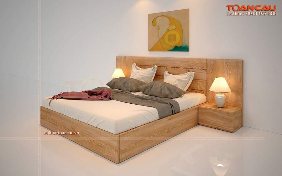 Giường ngủ gỗ sồi tự nhiên giá rẻ tại tphcm đẹp tiện ích