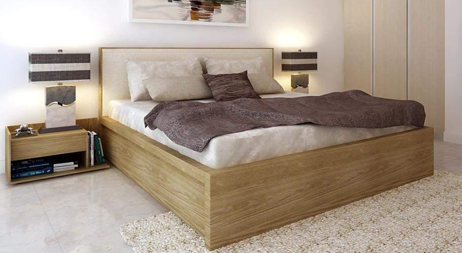 Mẫu giường ngủ gỗ sồi – TC16151