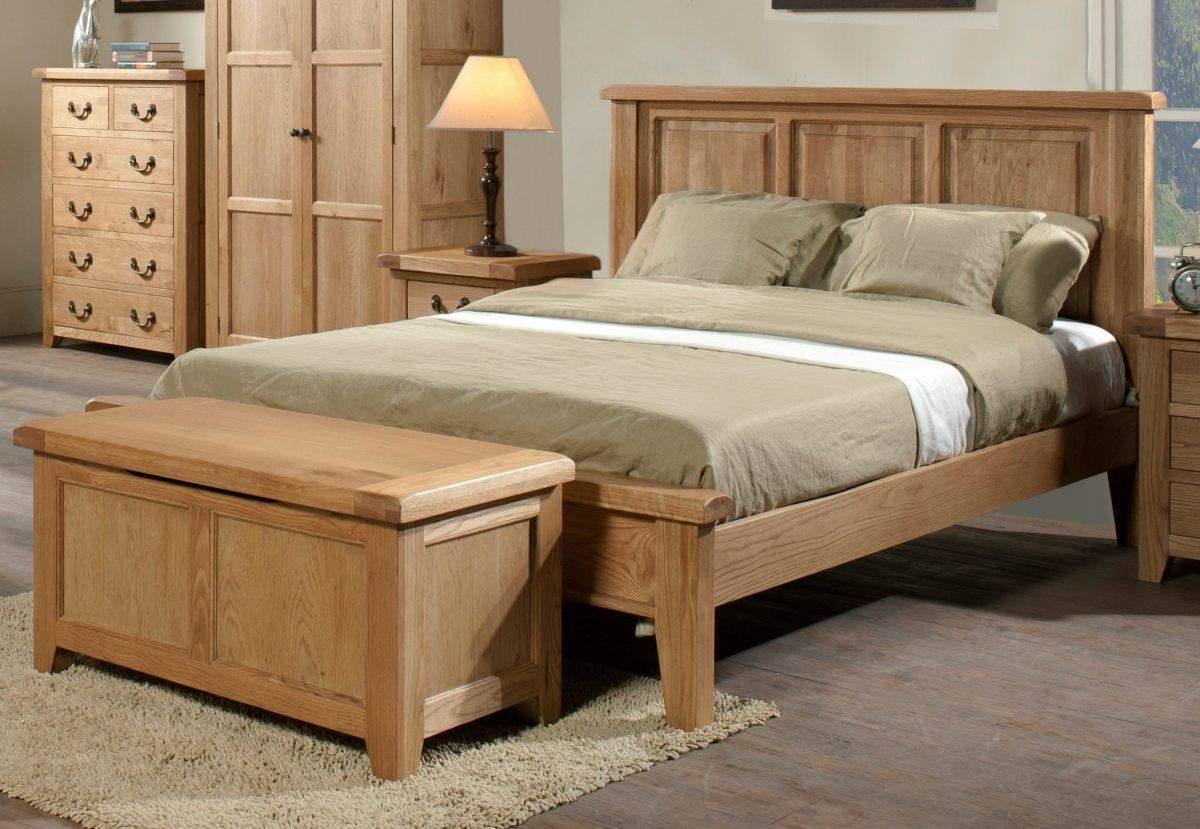 Mẫu giường ngủ gỗ sồi – TC16152