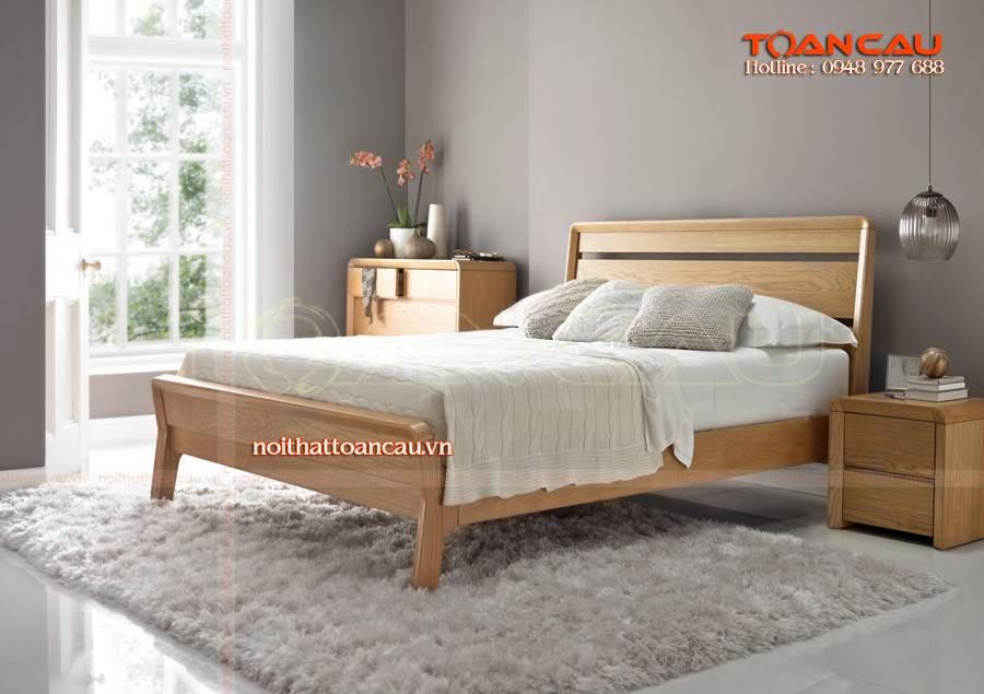 Mẫu giường ngủ gỗ sồi – TC16153