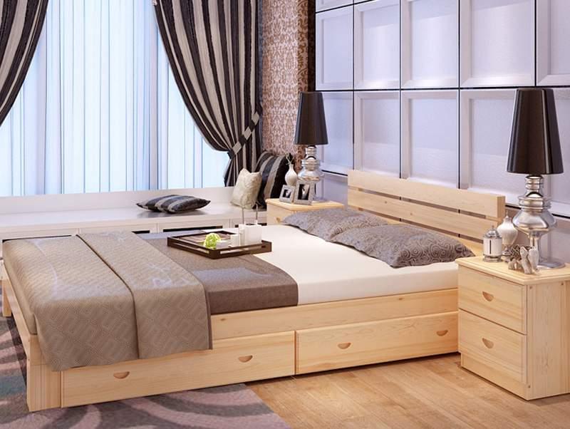 Mẫu giường ngủ gỗ sồi – TC16154