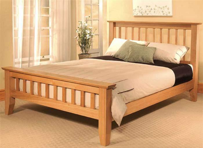 Mẫu giường ngủ gỗ sồi – TC16155