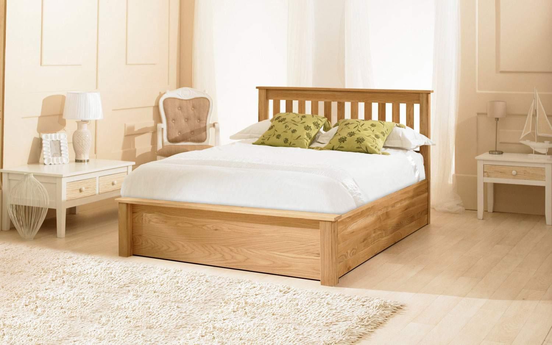 Mẫu giường ngủ gỗ sồi – TC16158