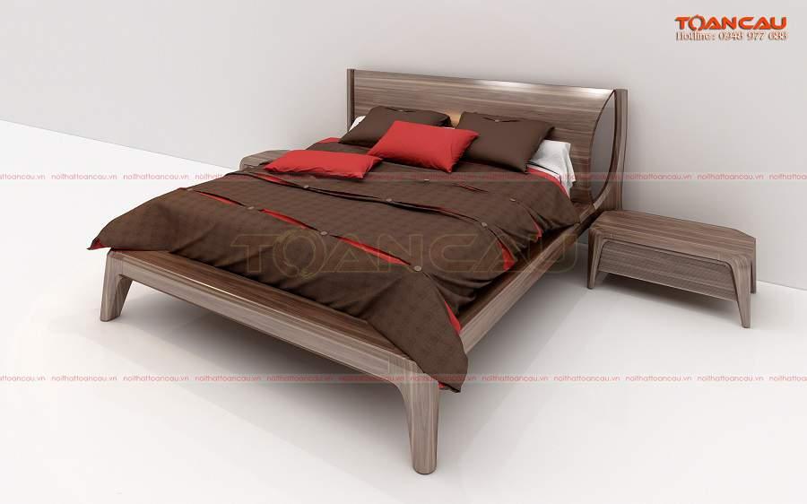Mẫu giường ngủ gỗ óc chó 1m8 tại Hà Nội