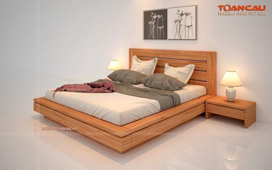 Giường ngủ gỗ tự nhiên cao cấp tại Hà Nội gỗ gõ đỏ