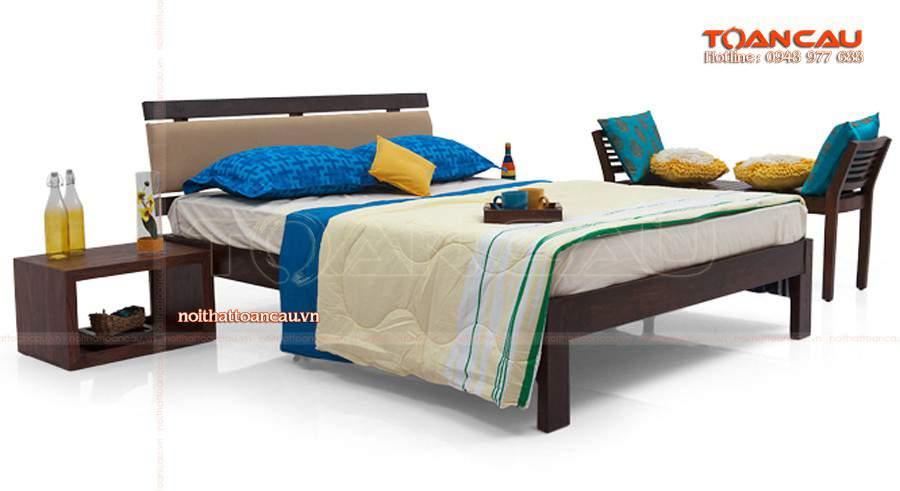 Giường ngủ gỗ tự nhiên cao cấp tại Hà Nội gỗ óc chó