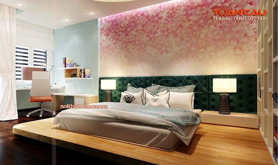 Giường ngủ gỗ tự nhiên giá rẻ ở hà nội cho nhà xinh
