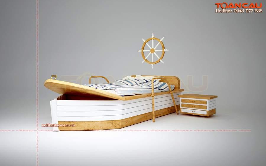 Giường ngủ hình thuyền cho trẻ em – TC1113B