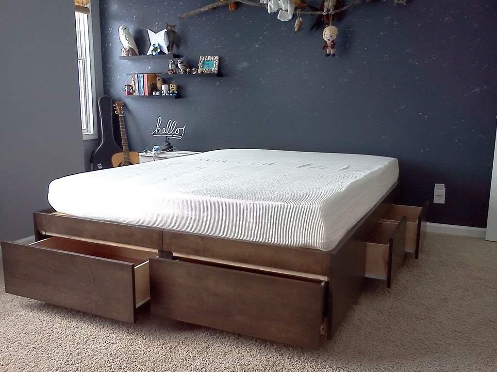 Mẫu giường ngủ có ngăn kéo – TC16174