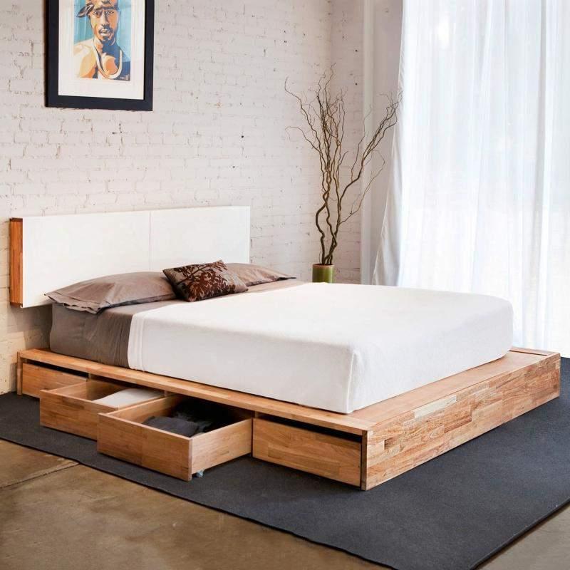 Mẫu giường ngủ thấp - TC19178