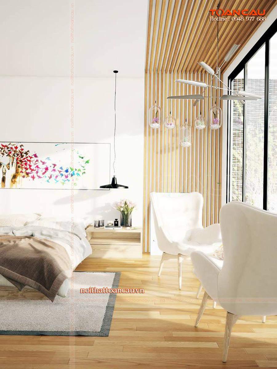 Giường ngủ thiết kế bằng gỗ Sồi đẹp, hiện đại chất lượng đảm bảo, giá thành tốt nhất khi đưa vào sử dụng.