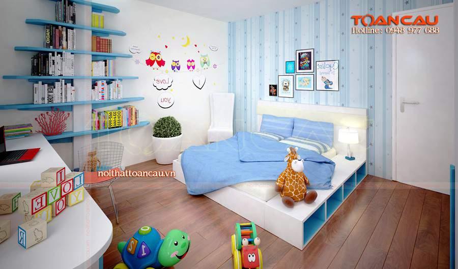 Giường cho bé, giường gỗ công nghiệp tốt nhất, rất bền khi sử dụng.