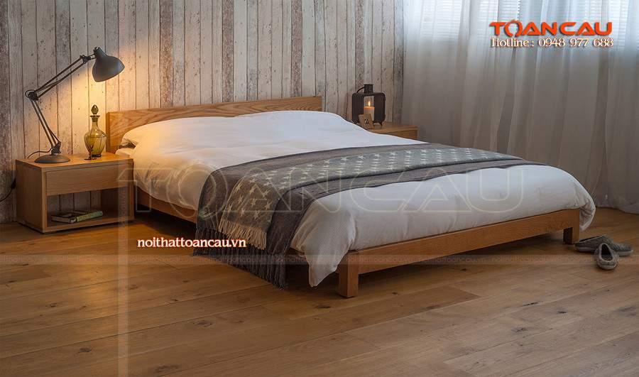 Mẫu giường ngủ thấp kiểu dáng hiện đại