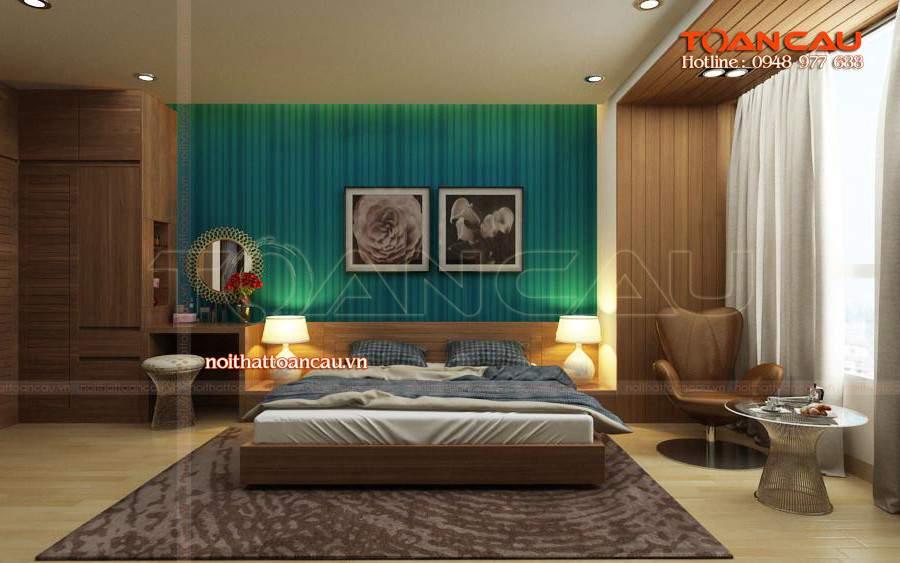 thiết kế nội thất chung cư 2 phòng ngủ, thiết kế chung cư đẹp hiện đại