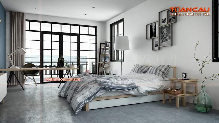 Mẫu giường ngủ đa năng gỗ công nghiệp