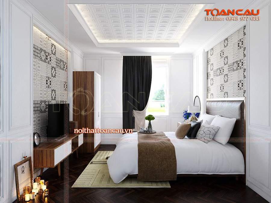 Mẫu giường ngủ gỗ đẹp và đơn giản