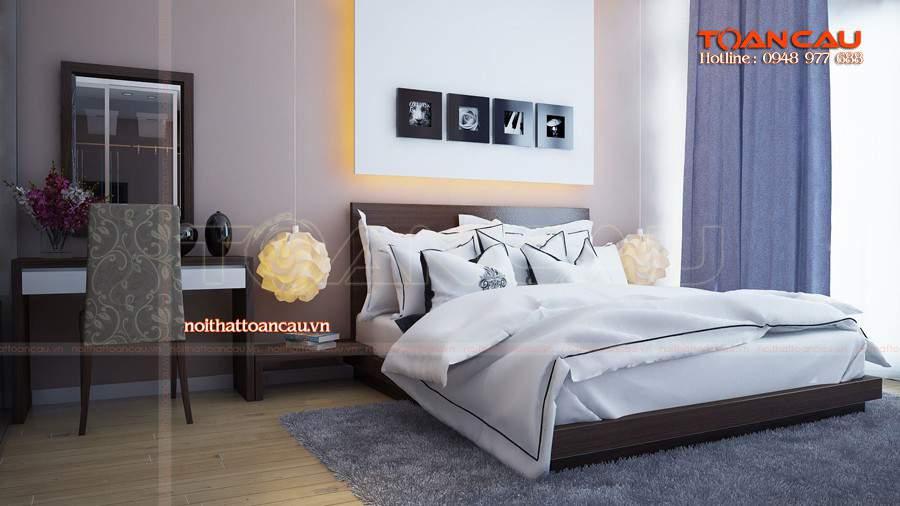 Mẫu giường cưới kiểu Nhật hiện đại