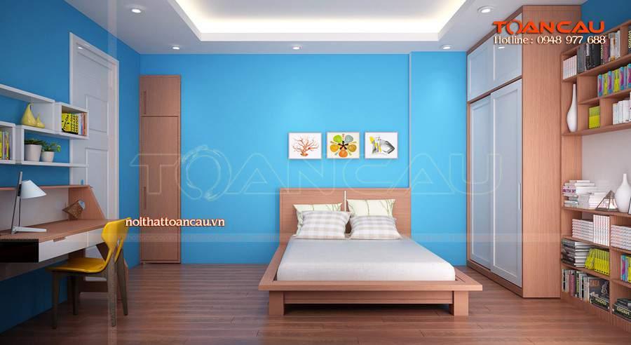 Giường ngủ đẹp - kệ tivi gỗ nội thất cho phòng ngủ đảm bảo chất lượng tốt nhất khi sử dụng.