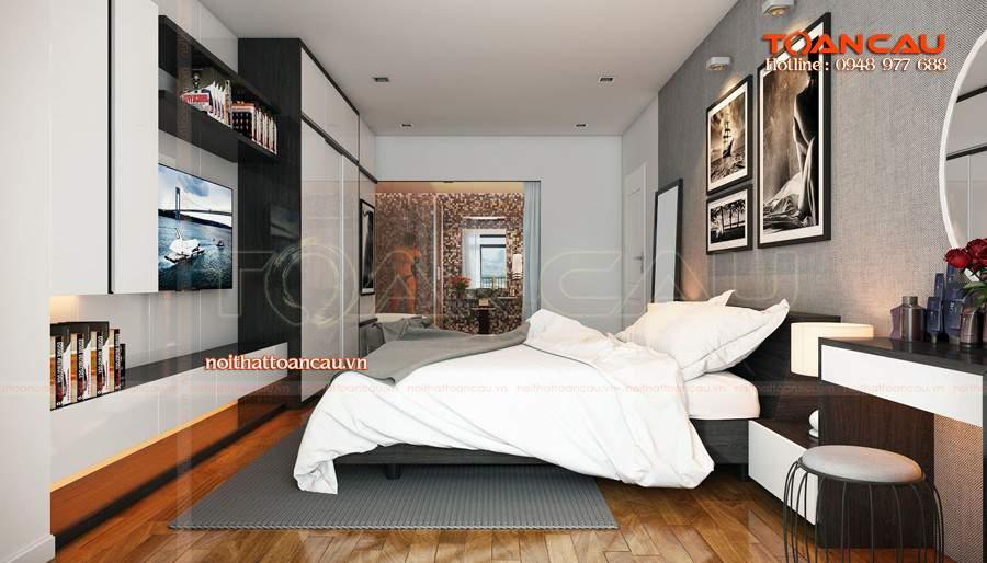 giường ngủ hiện đại, kệ tivi phòng ngủ