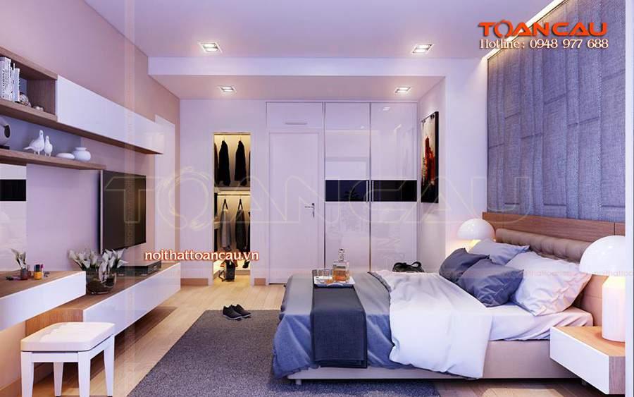thiết kế nội thất chung cư 2 phòng ngủ, thiết kế nội thất chung cư cao cấp sang trọng