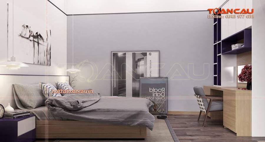 Mẫu giường ngủ gỗ hộp - TC1107