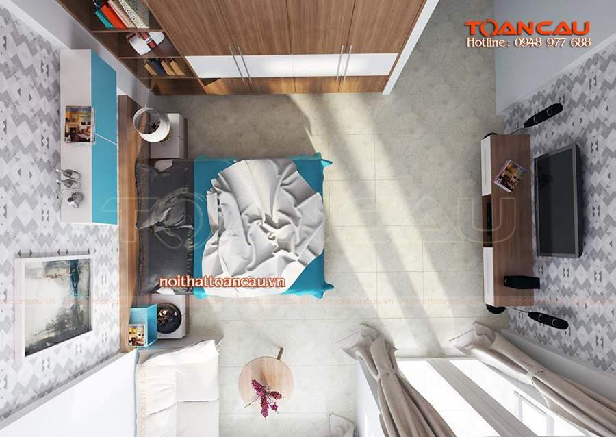 phòng ngủ cho con trai lớn hiện đại