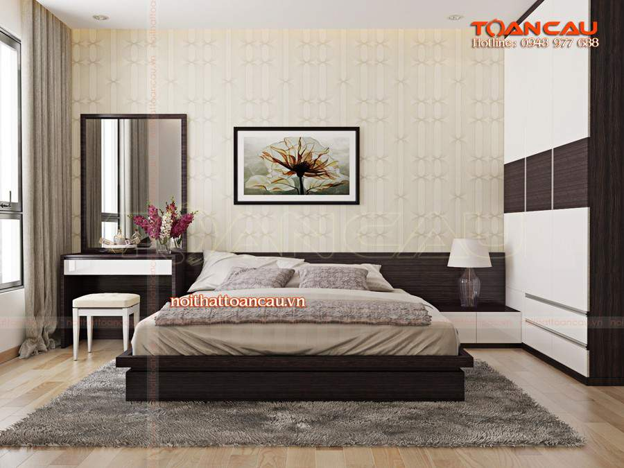 Mẫu giường ngủ gỗ hộp - TC1121