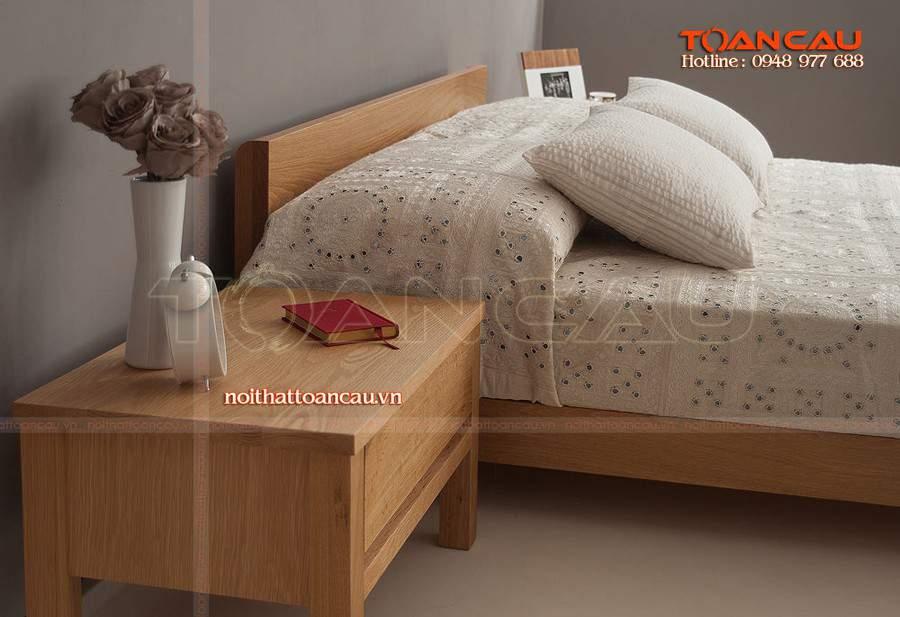 Mẫu giường ngủ kiểu dáng thấp đẹp tiện nghi