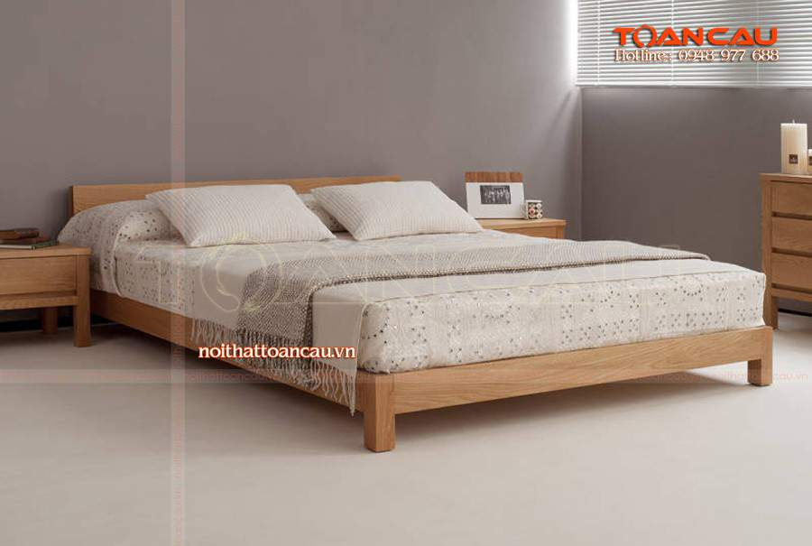 Mẫu giường ngủ thấp sàn hiện đại giá rẻ
