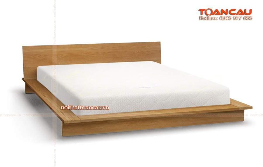 Giường ngủ gỗ thấp sàn giá rẻ