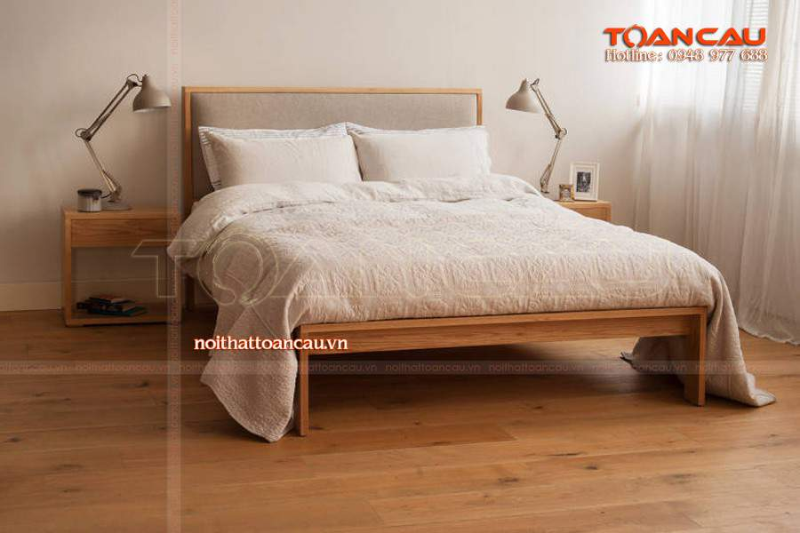 Giường gỗ tại Bình Dương đẹp tiện ích